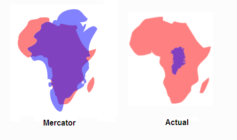 Mercator - Africa vs Greenland